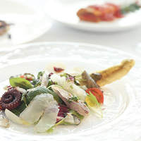 イルマーレ - イルマーレのスペシャリテ『鮮魚のサラダ仕立て』 すべて地魚です