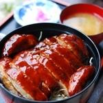 本丸茶屋 - Wソースかつ丼(大盛)