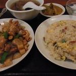 21336998 - 鶏肉のカシューナッツ炒めセット850円2013年9月17日龍城飯店