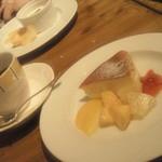 すい - ゴルゴンゾーラのベイクドチーズケーキ  コーヒー