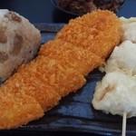 とんがらし - 吉野鶏めし、カジキマグロのステーキカツ、鶏天