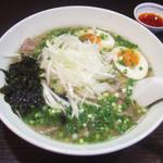 麺工房 武 - 牛塩ネギラーメン(850円)+味玉(100円)