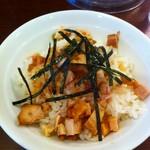 TORISOBA 雄 - ミニ鶏コマ丼2013.9
