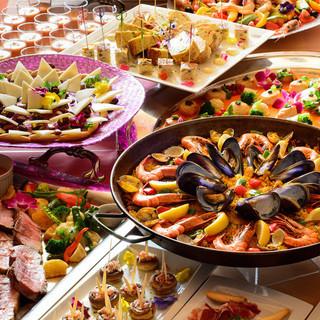 スペイン料理を心ゆくまで堪能…各種コースをご用意しています