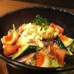 21348691 - チャンポンサラダ¥577 美味しいから出来ればもう少し野菜が欲しかったけど普通なら充分でしょうね!