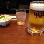 鳥はな - ドリンク写真:ビールは遠し^^;