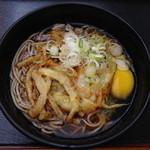 かわさき蕎麦 - かき揚げ天玉そば(430円)