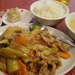 保昌 - ナスと豚肉のピリ辛炒め