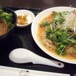らーめん 江南 - 冷し担々麺セット