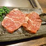 21350213 - 和牛ランプステーキ(山わさび醤油付)¥980♪