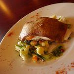 フランス家庭料理  グランダミ - ランチコースのメインはお魚料理、お肉料理からのチョイス。