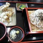 トムトムキキル - 舞茸天ざる680円