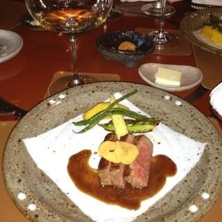 メゾン・ド・ヴァン鶉亭 - 大山黒牛ロースステーキ  やっぱりお肉が大好き(*≧艸≦)