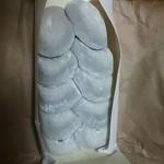 澤餅茶屋 - 皮が薄いから、 中のアンコが透けてみえる…