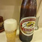 楽水軒 - 瓶ビール(大瓶):500円