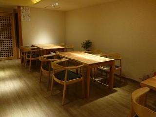 道下 - テーブル席
