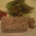 ラグー - フォアグラと豚のパテ・ド・カンパーニュ。初体験ですが食感と味の面白さに魅了されました