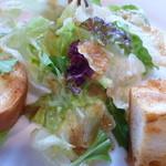 フラワーファーム - サラダ和風のドレッシングで カリっとパンがアクセントで美味しいです