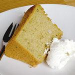 ワンノートカフェ - ランチ・手作りケーキ(200円)抹茶のシフォンケーキ