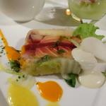 21360182 - サーモンと自慢の熊本野菜のテリーヌ