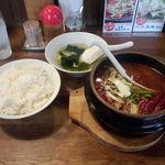 21361265 - 石焼麻婆豆腐880円+ご飯200円