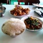 中国料理大山 - 日替わり定食ご飯大盛り