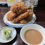 亜希 - ひれかつ定食 1360円