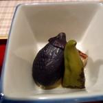 創作料理 中村屋 - 茄子と獅子唐と湯葉焼き