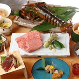 ブランド牛・伊勢海老・アワビなどの高級食材を揃えています。