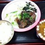 ヴィラ工房 - 料理写真:日替わり定食(ステーキ)