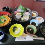 天然活魚の店 花靖  - しばらく待つと注文した「うに丼膳」2310円のおでましです。