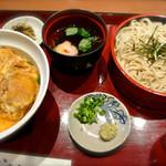 博多綱場町そば茶屋華元 - カツ丼セット