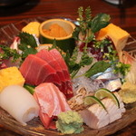 居食屋 響 - お刺身盛り合わせ(3人前)日本酒がすすみます。