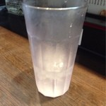 21383829 - 通常の二倍の高さのお冷グラス