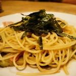 キャロットハウス - 料理写真:和風な味付けベーコンとナスビのスパゲッティ