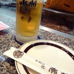 お好み焼き 赤坂 - 樽生ビール中_550円