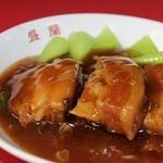 盛蘭 - 料理写真:自慢のトンポーロー(豚バラ肉のとろとろ煮)は口に入れた瞬間にとろけちゃいます♪ご飯にも合う!