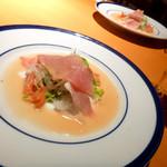 斉藤ファーム - ディナータイムのセットのサラダ