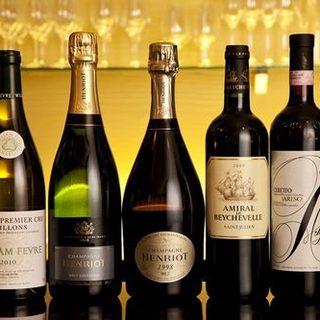 ニューワールドのワインも豊富に!
