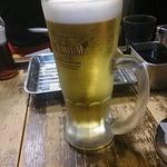 串かつ 七福神 - ビール