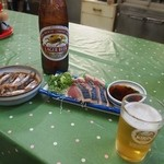 森田食堂 - 小鰯煮 & 戻り鰹のタタキ