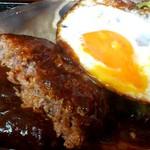 洋風酒場 アネモネ - ピッツァ食堂 ANEMONE @葛西 御膳の大きなハンバーグは粗挽き