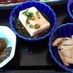 洋風酒場 アネモネ - ピッツァ食堂 ANEMONE @葛西 御膳に付く小鉢3品