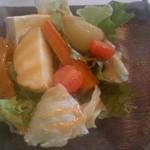 里山カフェ - 有機豆腐と野菜