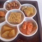 里山カフェ - たっぷりの野菜お惣菜
