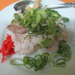 石田食堂 - 白飯 豚ねぎのせ