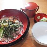 21406786 - 山菜そば 1100円 【 2013年9月 】