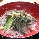 21406801 - 山菜そば 1100円 【 2013年9月 】