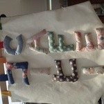 まめのき - お店の旗は、手作りのようです。両面にふっくらとした文字が縫い付けられてて、とっても可愛い♡