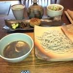 梵字 - 蕎麦と焼きおにぎりともつ煮込み、最後は蕎麦湯
